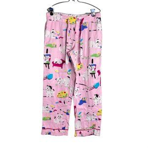 Nick & Nora Medium Pink Cat Pajama Lounge Pant